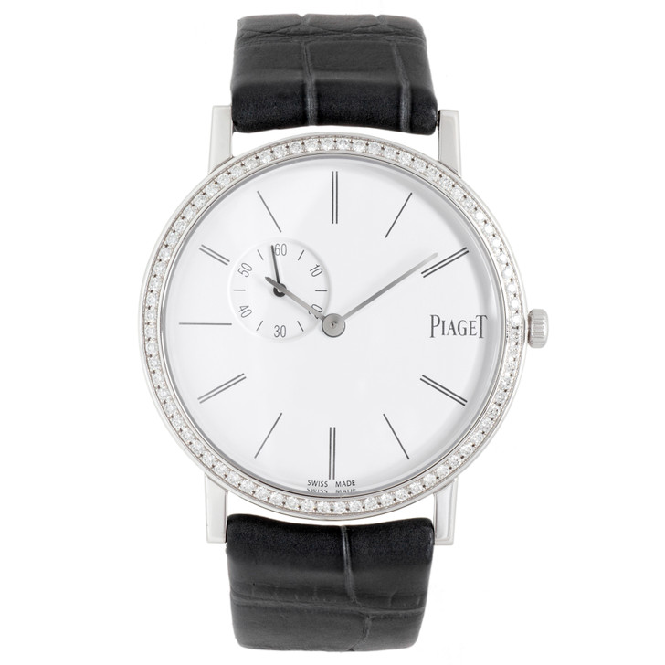 Piaget 18K White Gold Diamond 34mm Altiplano Watch GOA39106