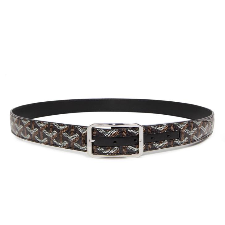 Goyard Black Goyardine Reversible Belt
