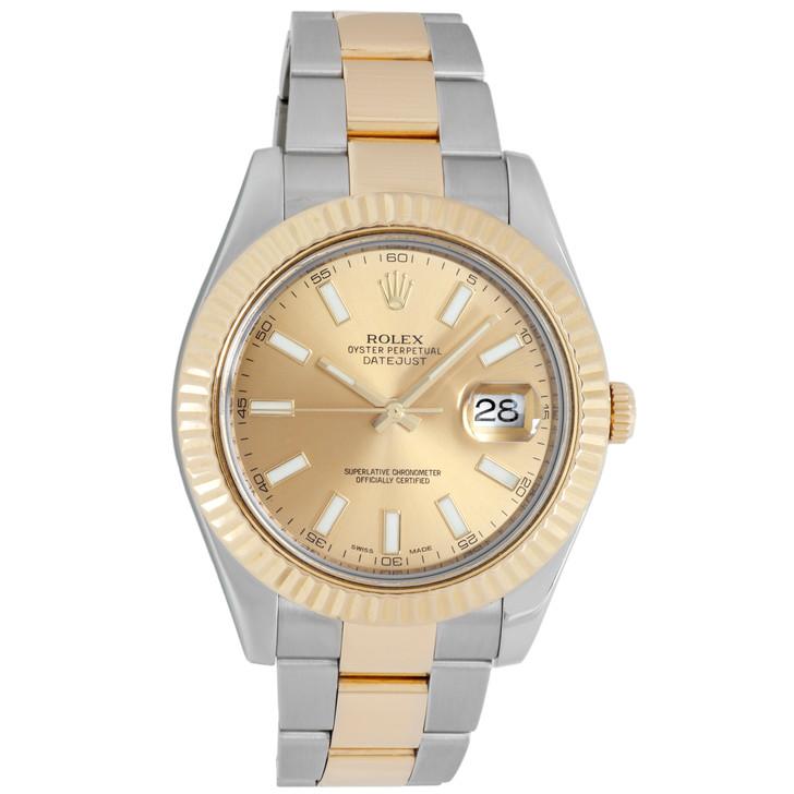 Rolex 18K & Stainless Steel Datejust II 116333