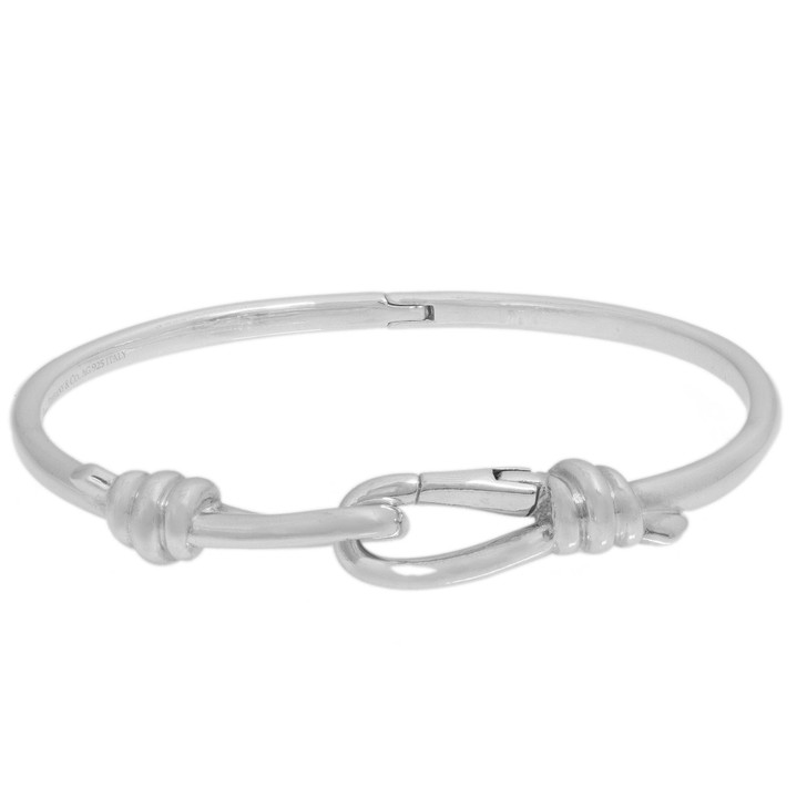 Tiffany & Co. Sterling Silver Paloma Picasso Knot Hinged Bangle