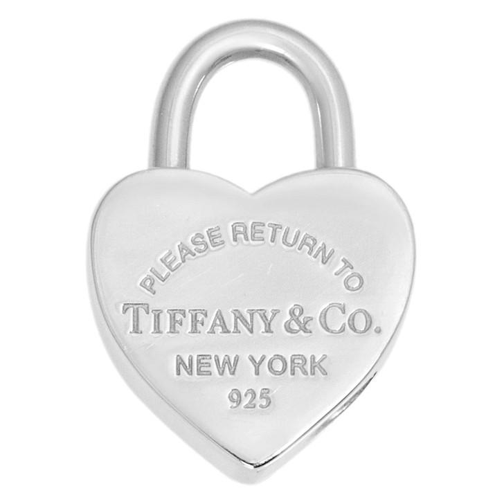 Tiffany & Co. Sterling Silver Return To Tiffany Heart Lock Charm