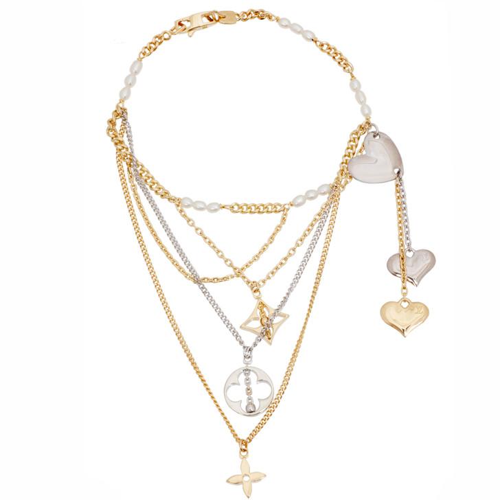 Louis Vuitton 18K Monogram Pearl Strand Bracelet
