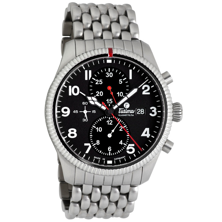 Tutima Stainless Steel Grand Flieger Classic Chronograph 6402-02