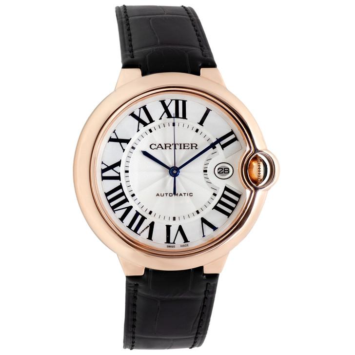 Cartier 18K Pink Gold Ballon Bleu 42mm Automatic Watch WGBB0017