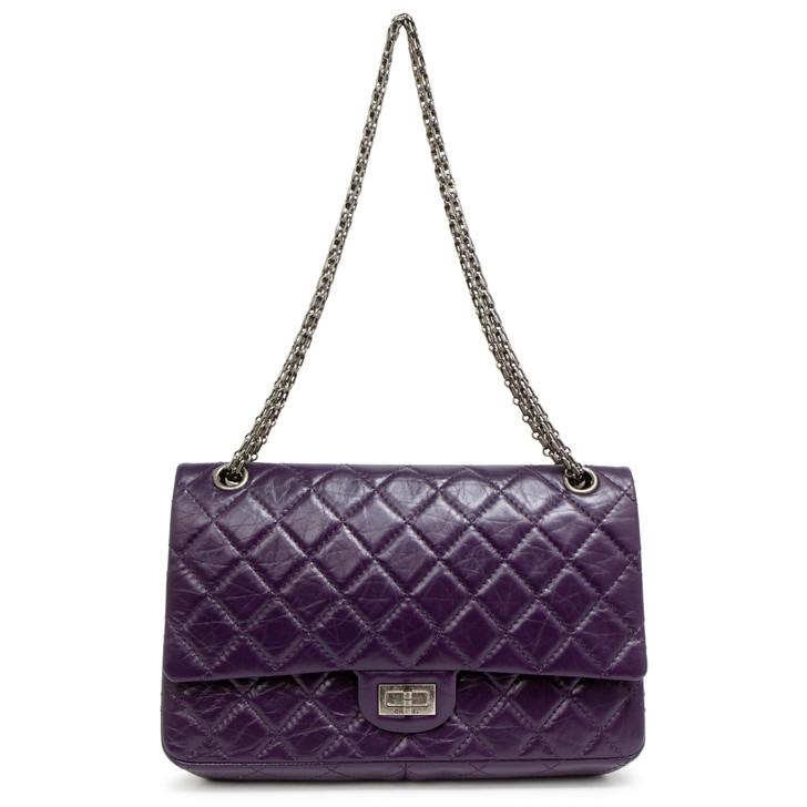 Chanel Purple Aged Calfskin 2.55 Reissue Double Flap 226
