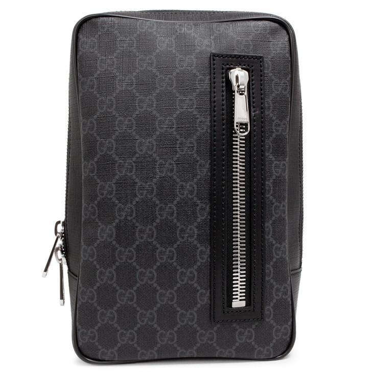 Gucci Black GG Supreme Canvas Belt Bag