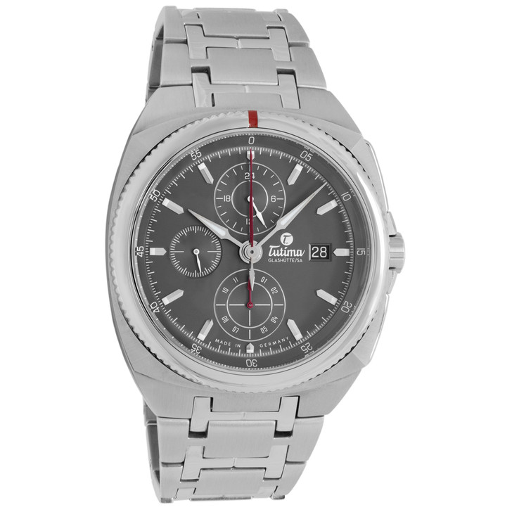 Tutima Stainless Steel Saxon One Chronograph 6420-01
