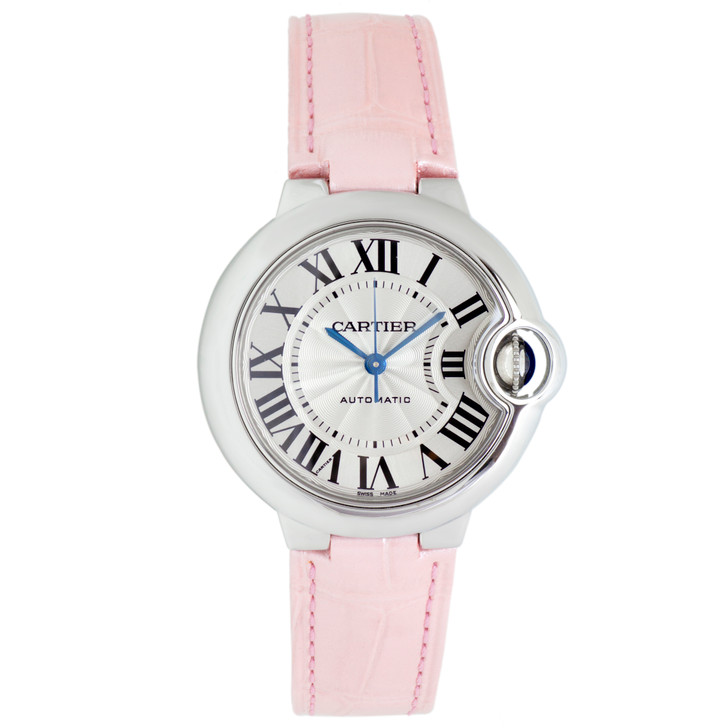 Cartier Stainless Steel Ballon Bleu 33mm Ladies Watch W6920085