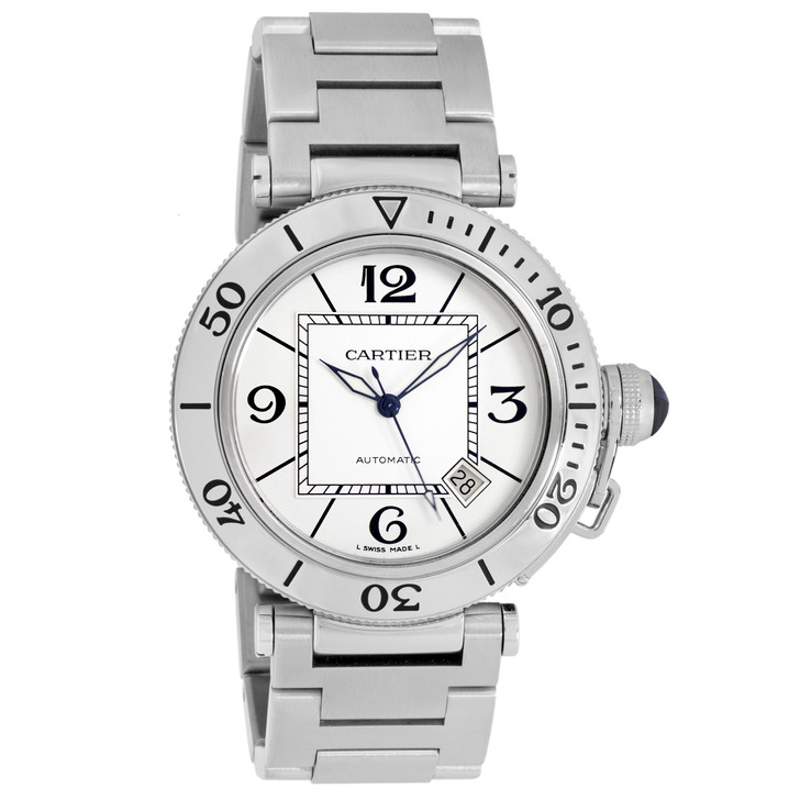Cartier Stainless Steel Pasha Seatimer W31080M7