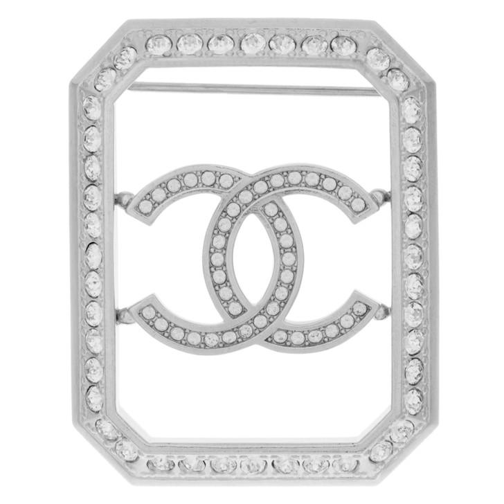 Chanel Crystal CC Brooch