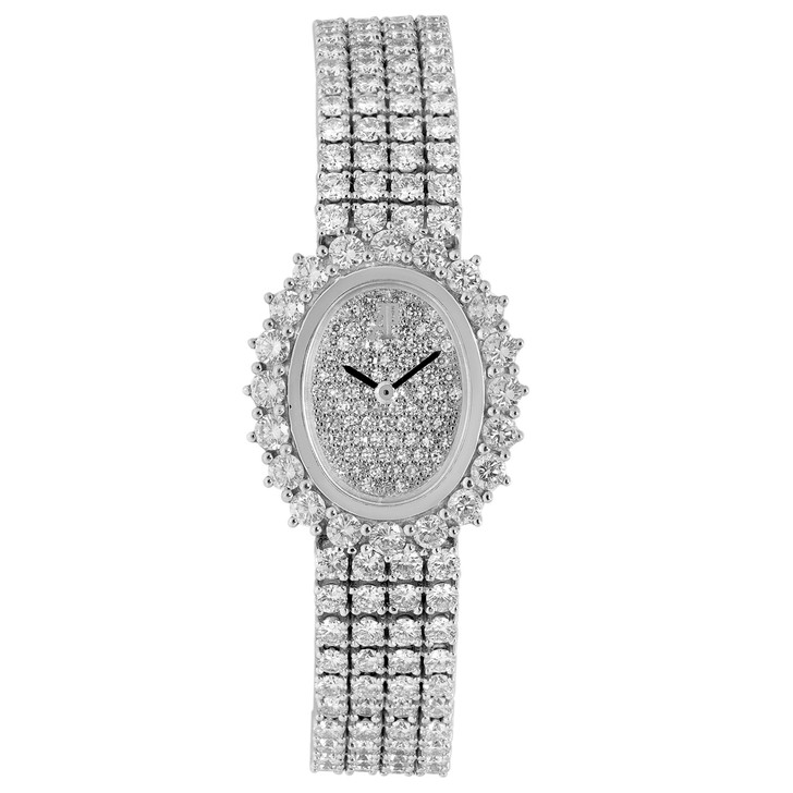 Audemars Piguet 18K White Gold & Diamond Vintage Ladies Watch