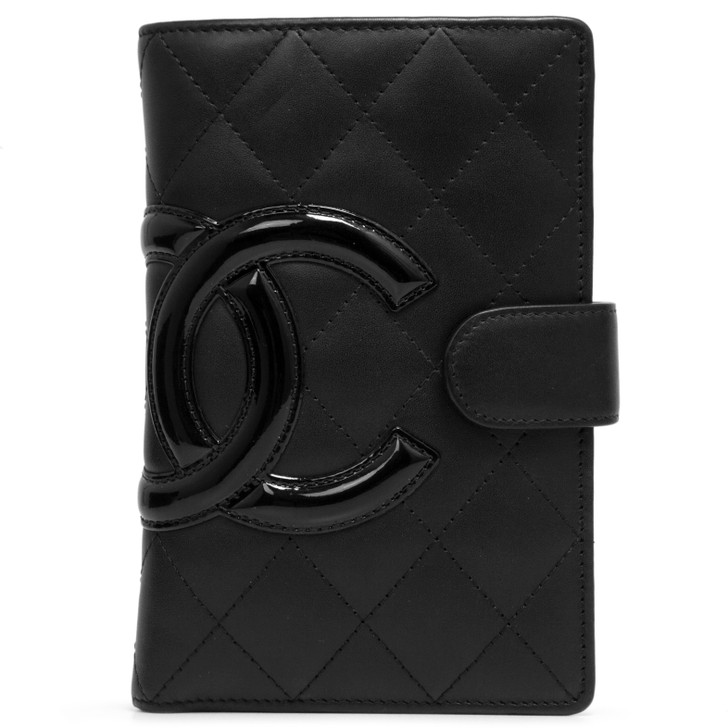 Chanel Black Quilted Calfskin Cambon Zipped Pocket Wallet