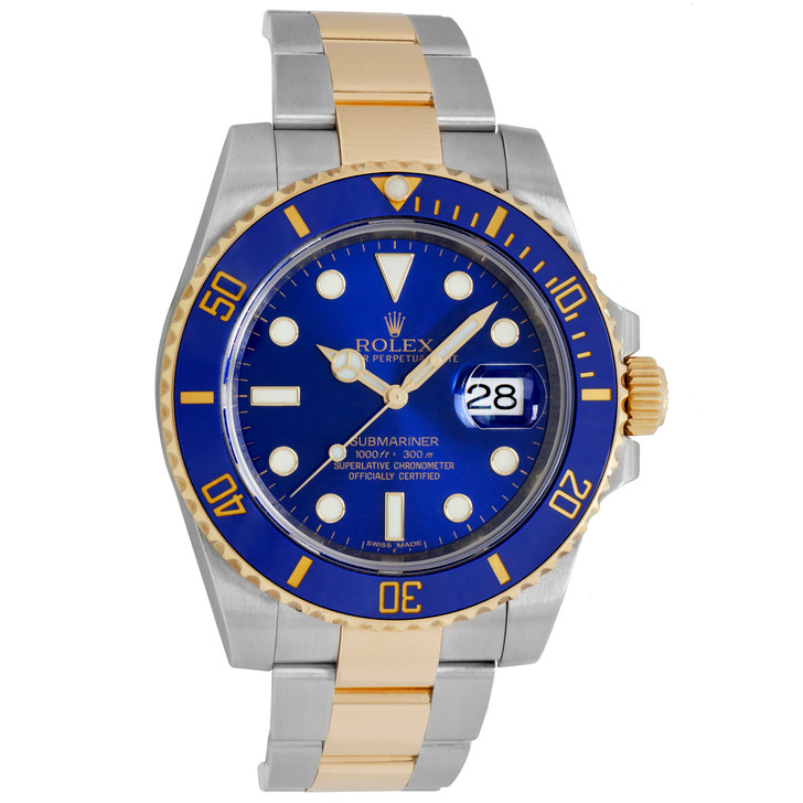 Rolex 18K Yellow Gold & Stainless Steel Submariner 116613LB