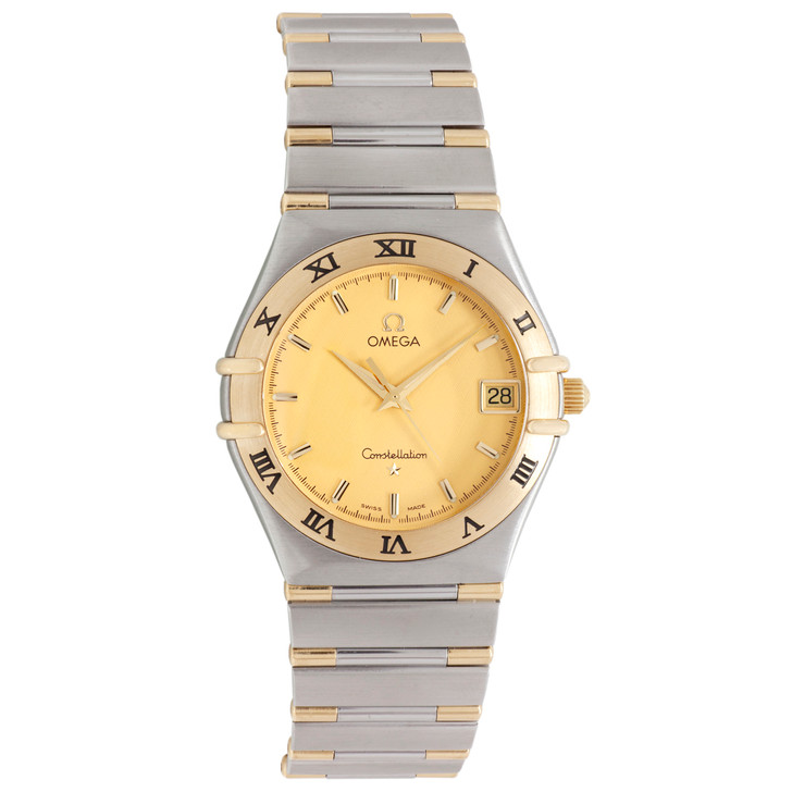 Omega 18K & Stainless Steel 34mm   Constellation