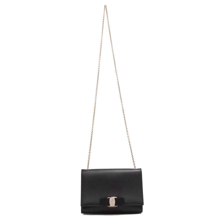 Salvatore Ferragamo Black Ginny Mini Bag