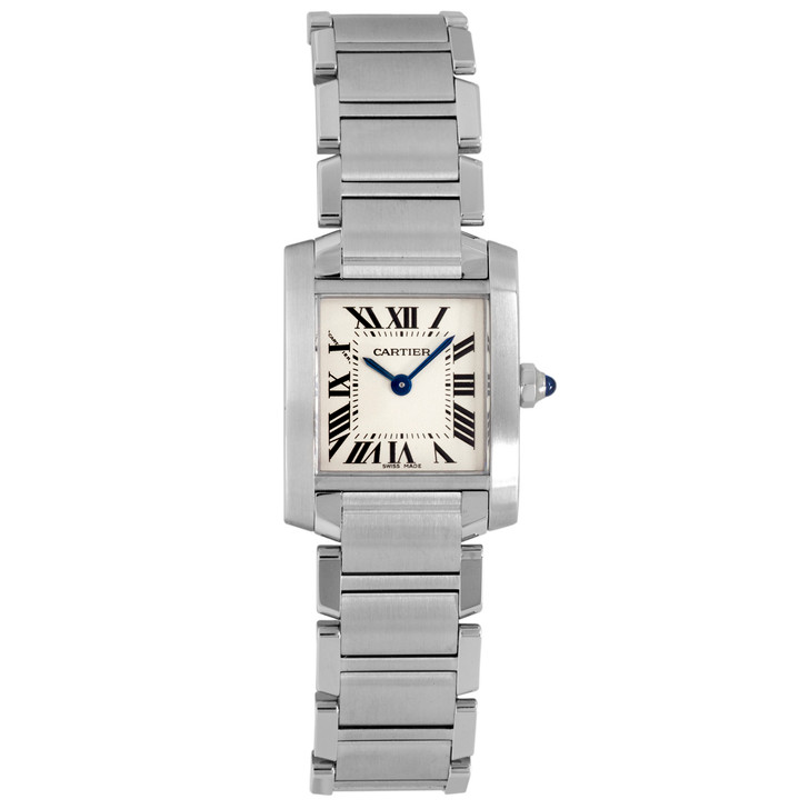 Cartier Stainless Steel Tank Francaise Ladies Watch W51008Q3