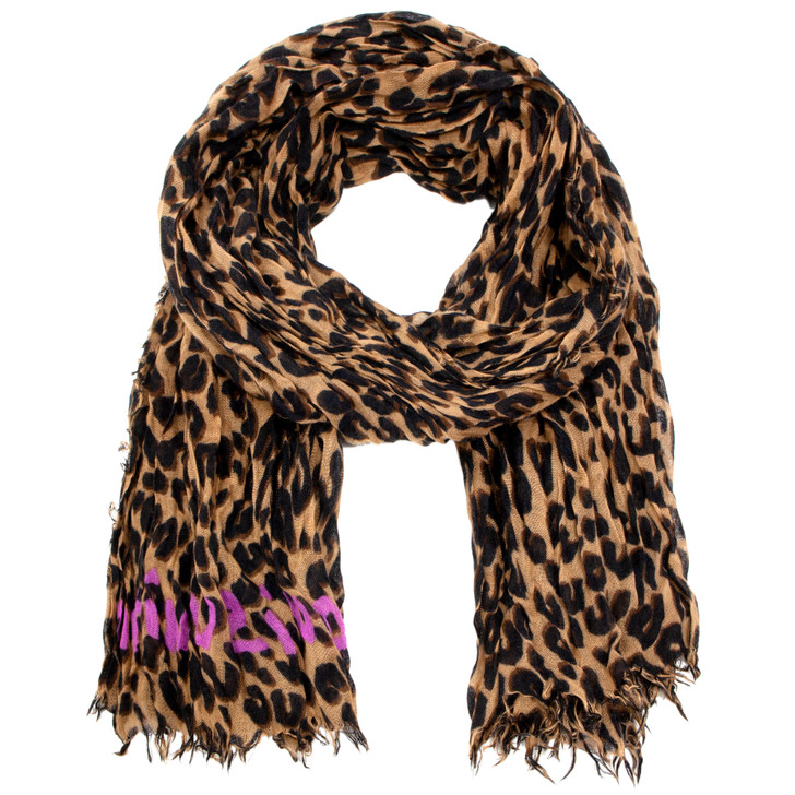 Louis Vuitton Brown Cashmere/Silk Stephen Sprouse Leopard Scarf