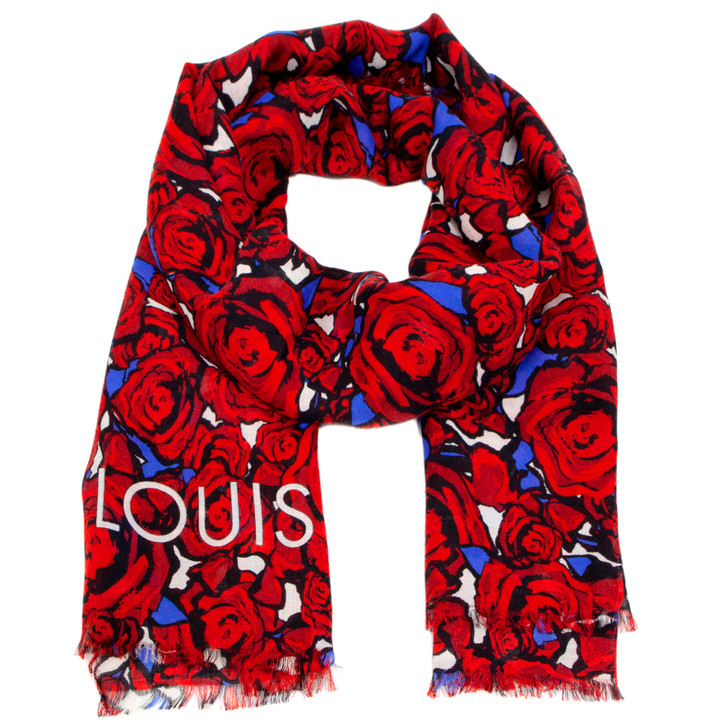 Louis Vuitton Silk/Wool/Cashmere Rock 'n' Roses Stole