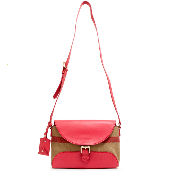 Burberry Pink Azalea House Check Small Henham Crossbody