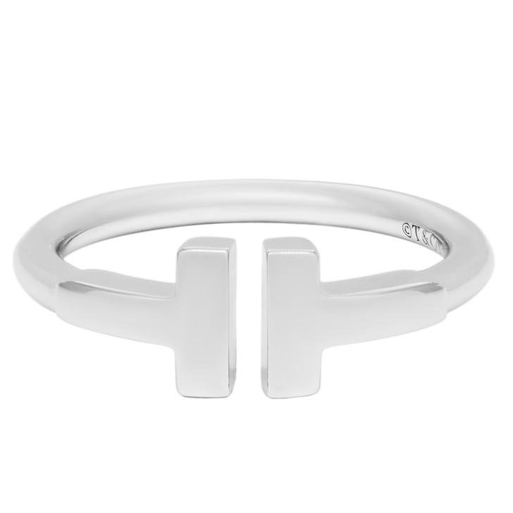 Tiffany & Co. 18K White Gold T Wire Ring