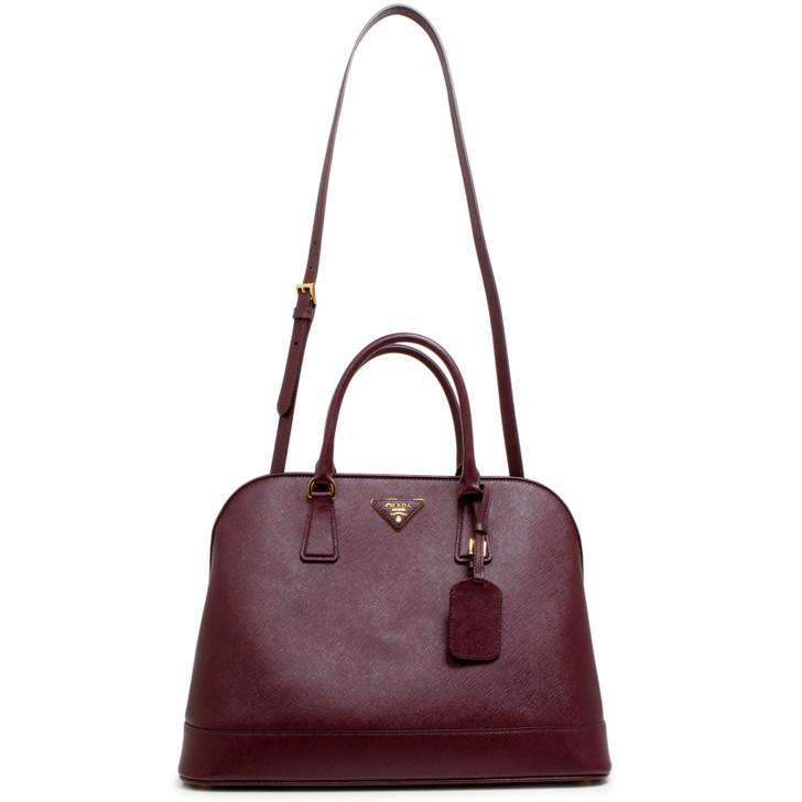 Prada Granato Saffiano Dome Bag