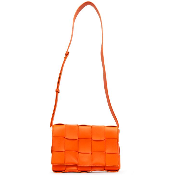 Bottega Veneta Burned Orange Maxi Intrecciato Cassette  Bag