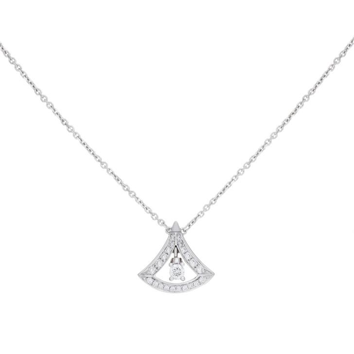 Bvlgari 18K White Gold Diva's Dream Openwork Necklace