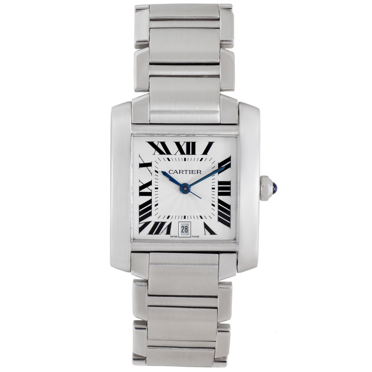 Cartier Stainless Steel Tank Francaise Automatic Watch W51002Q3