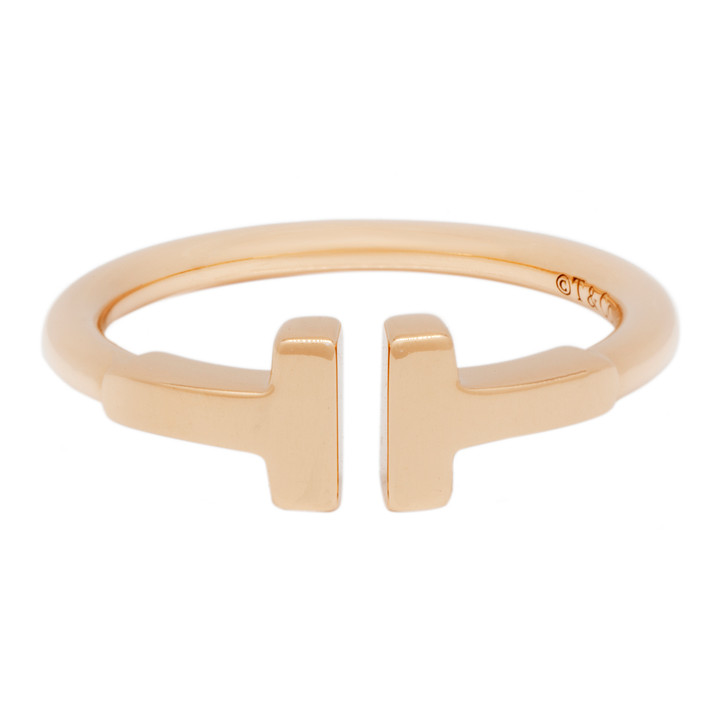 Tiffany & Co. 18K Rose Gold T Wire Ring
