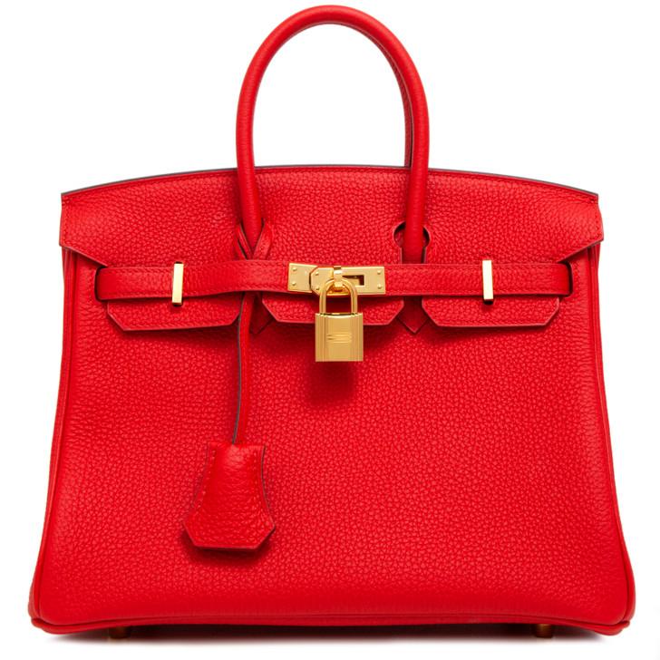 Hermes Rouge de Coeur Togo Birkin 25