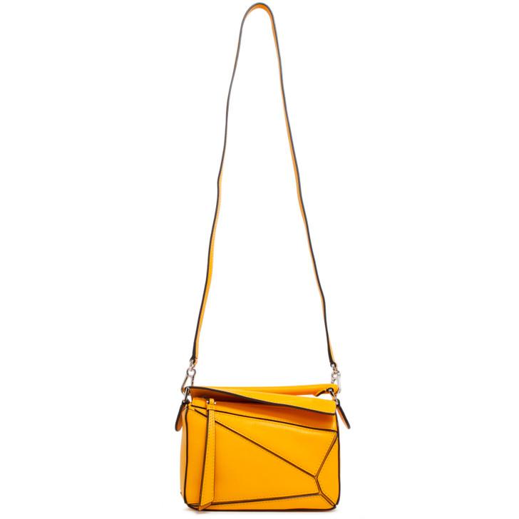 Loewe Yellow Calfskin Mini Puzzle Bag