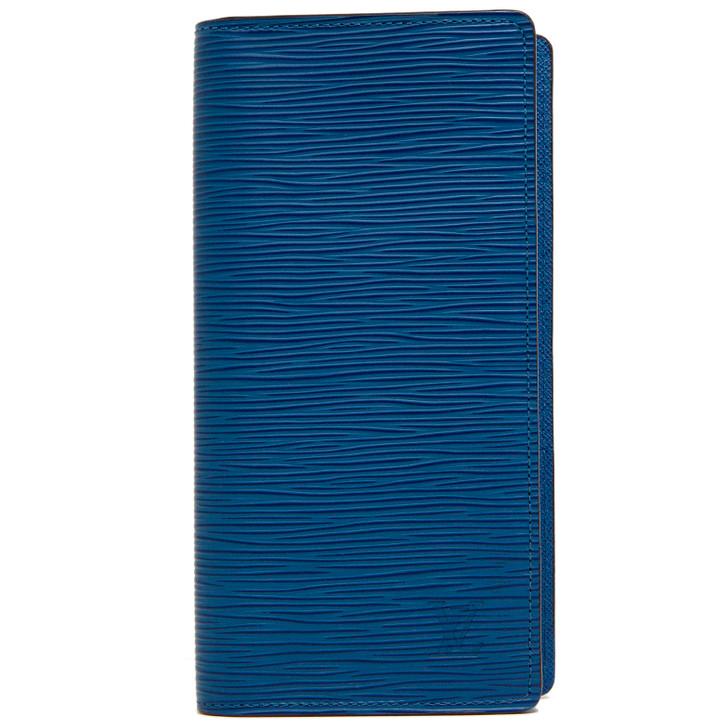 Louis Vuitton Navy Blue Epi Brazza Wallet