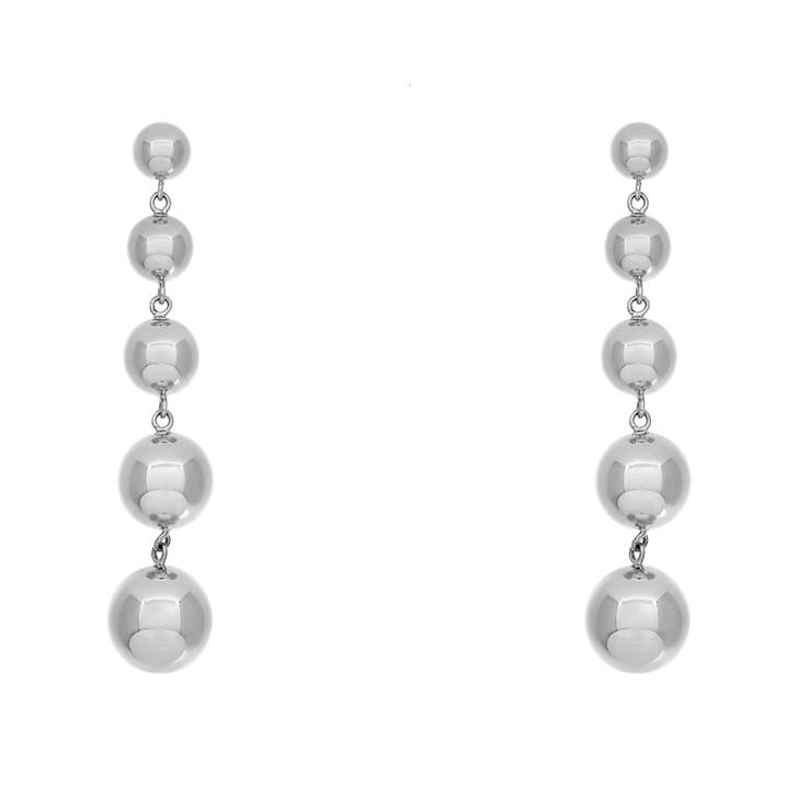 Tiffany & Co. Sterling Silver Graduated  Bead Drop Earrings