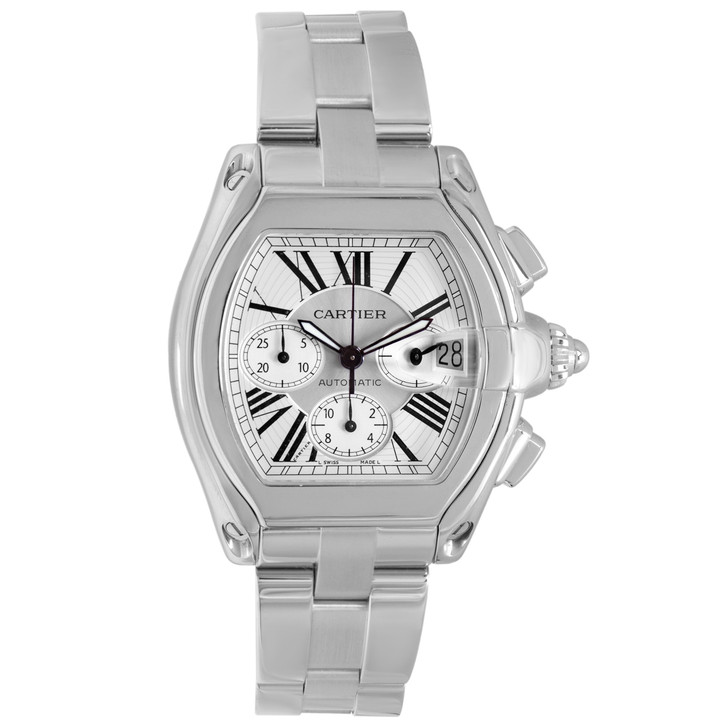 Cartier Stainless Steel Roadster Chronograph XL W62019X6