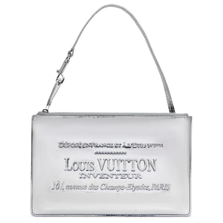 Louis Vuitton Silver Mirror Miroir Inventeur Pochette Plat