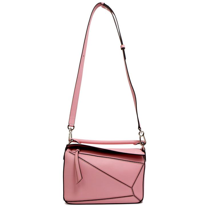 Loewe Pink Calfskin Small Puzzle  Bag