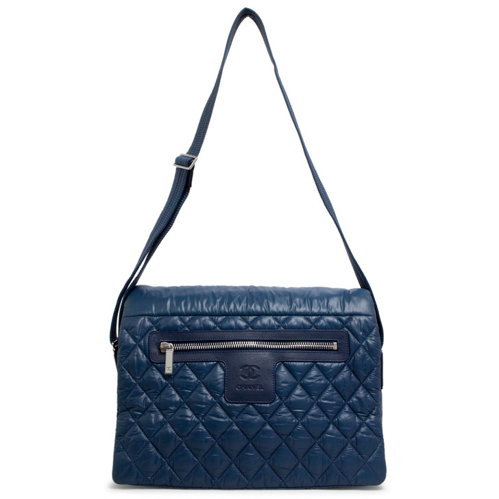 Chanel Blue Nylon Coco Cocoon Messenger Bag