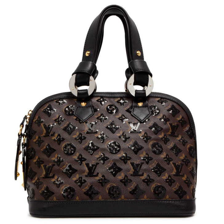 Louis Vuitton Black Monogram Eclipse Alma