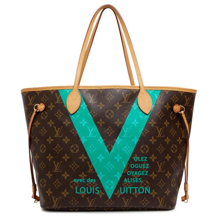 Louis Vuitton Turquoise Monogram V Neverfull MM