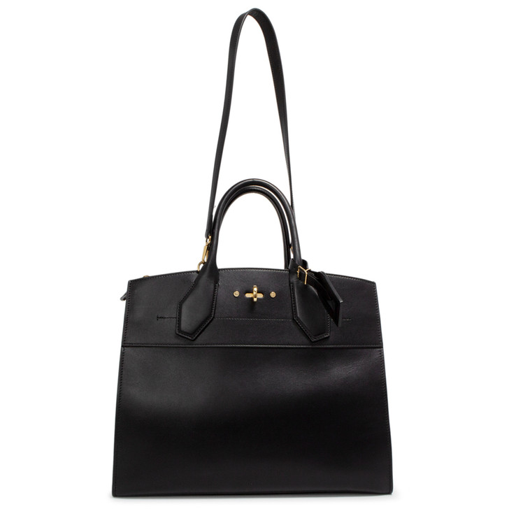 Louis Vuitton Black Calfskin City Steamer MM