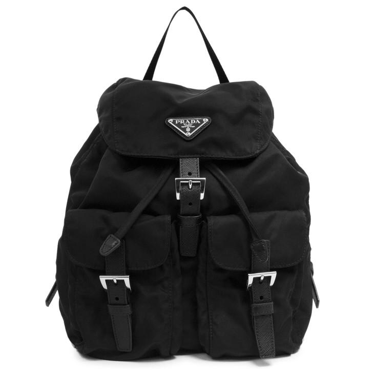 Prada Black Tessuto Nylon Backpack