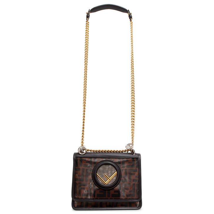 Fendi Zucca Tech Mesh Small Kan I Shoulder Bag