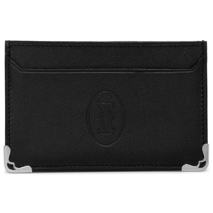 Cartier Black Calfskin Must de Cartier Simple Card Holder