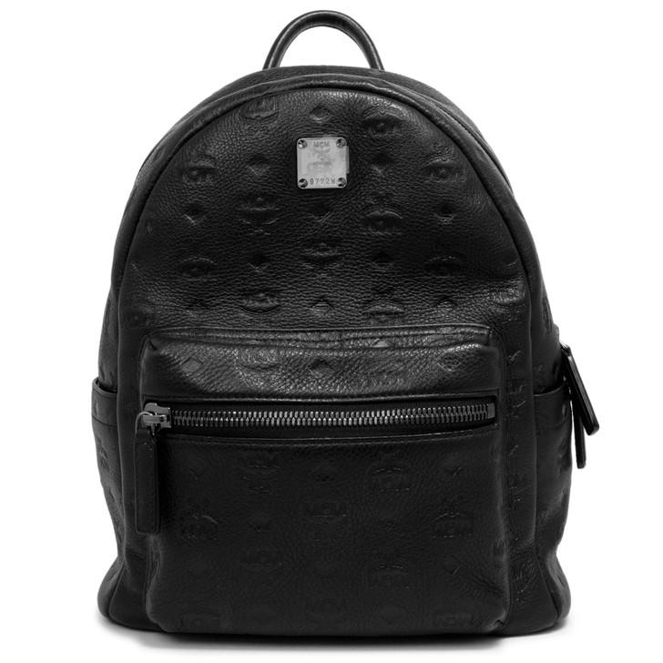 MCM Black Visetos Canvas Small Stark Backpack