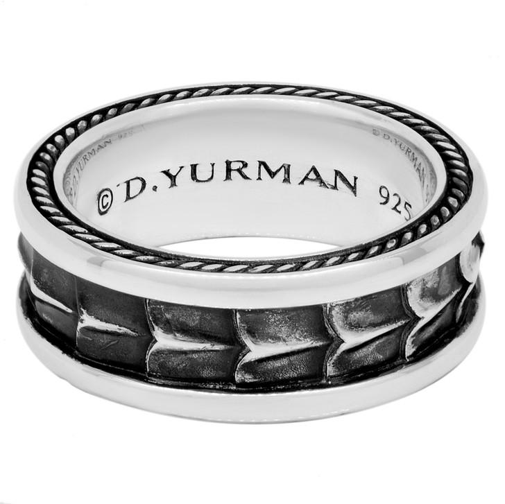 David Yurman Sterling Silver Armory Band Ring