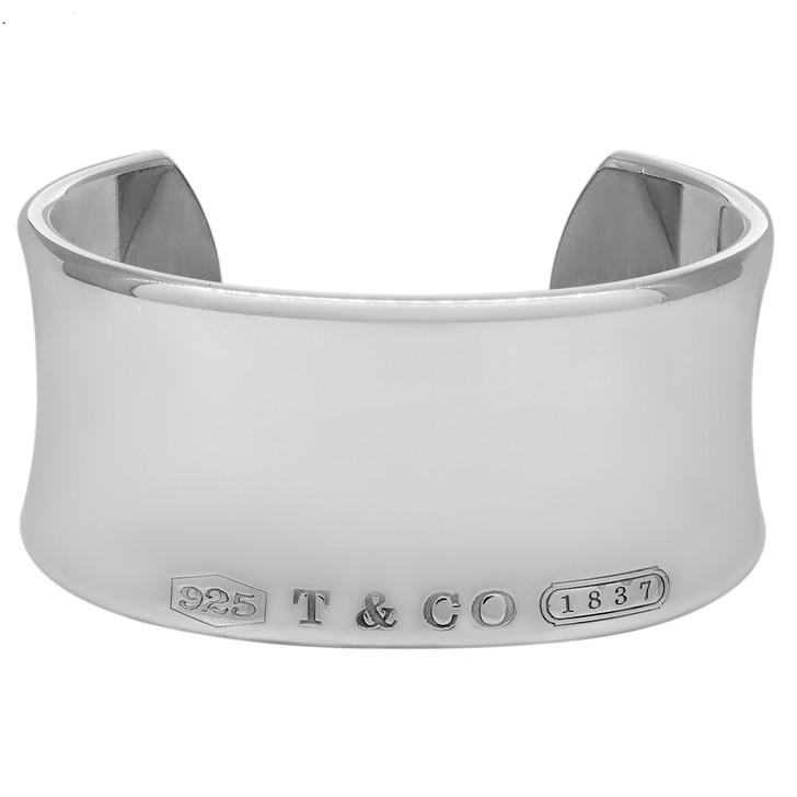 Tiffany & Co. Sterling Silver 1837 Wide Cuff Bracelet