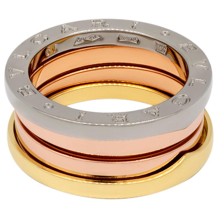 Bvlgari 18K Tri-Color B.zero1 Three-Band Ring