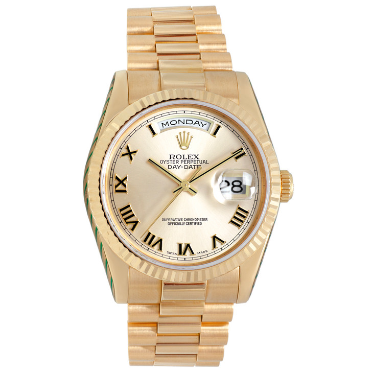 Rolex 18K Yellow Gold Day-Date President 118238