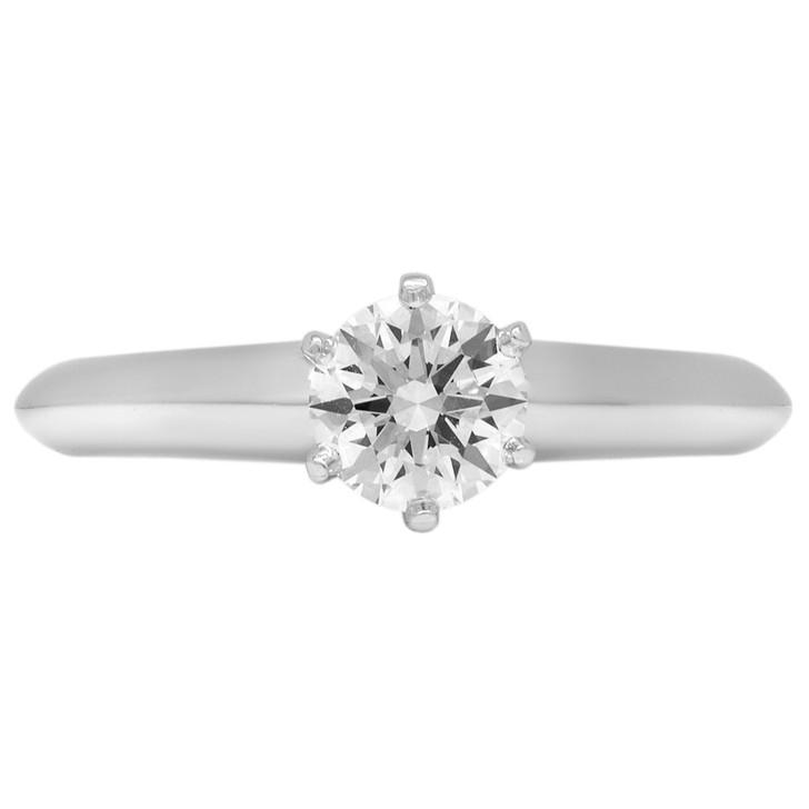Tiffany & Co. Platinum .50 Carat Diamond Solitaire Ring
