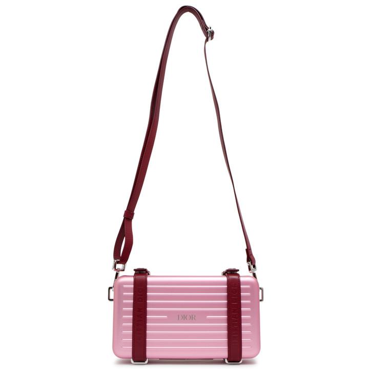 Dior X Rimowa Pink Aluminum/Calfskin Personal Clutch